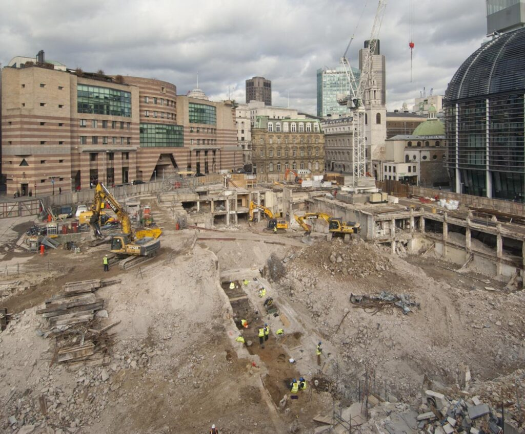 Excavations at Bloomberg London