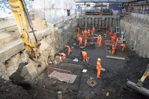 Crossrail archaeology excavations